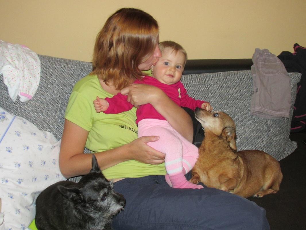 Majačiky s rodinou
