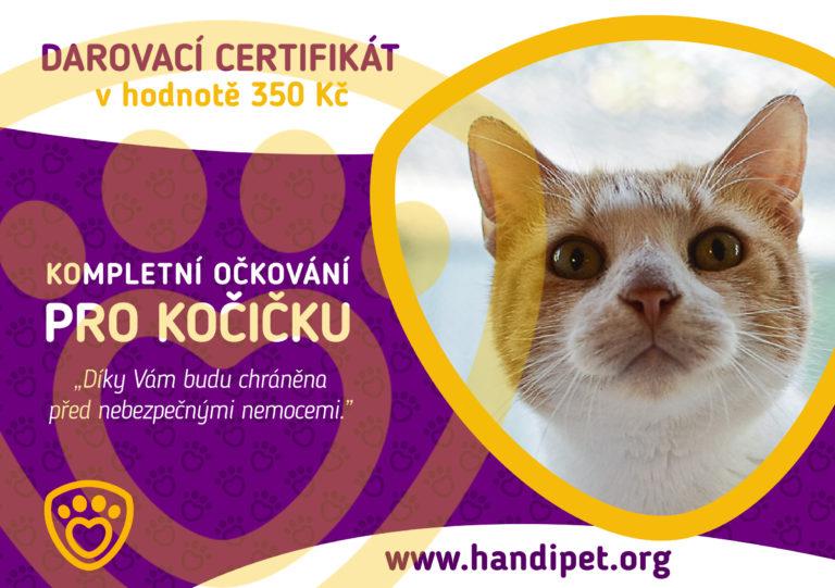 Darovací certifikát: kompletné očkování pro kočičku za 300 Kč